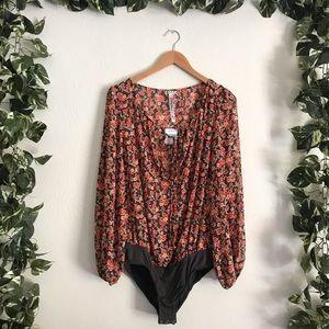 🆕Free People Floral Bodysuit